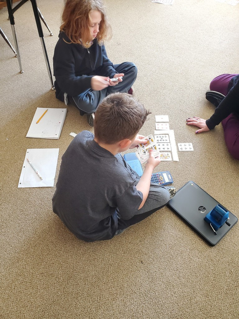 Long division with playing cards