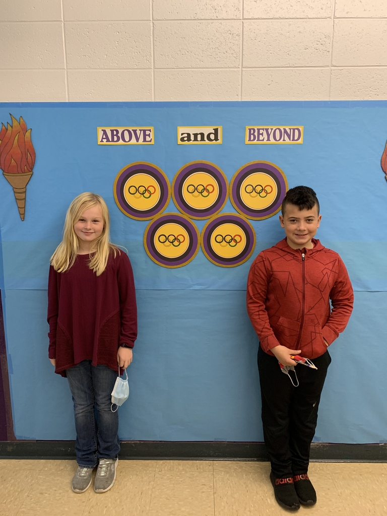 Students of the week are Megan Metcalf and Jayden Frias! Congratulations!
