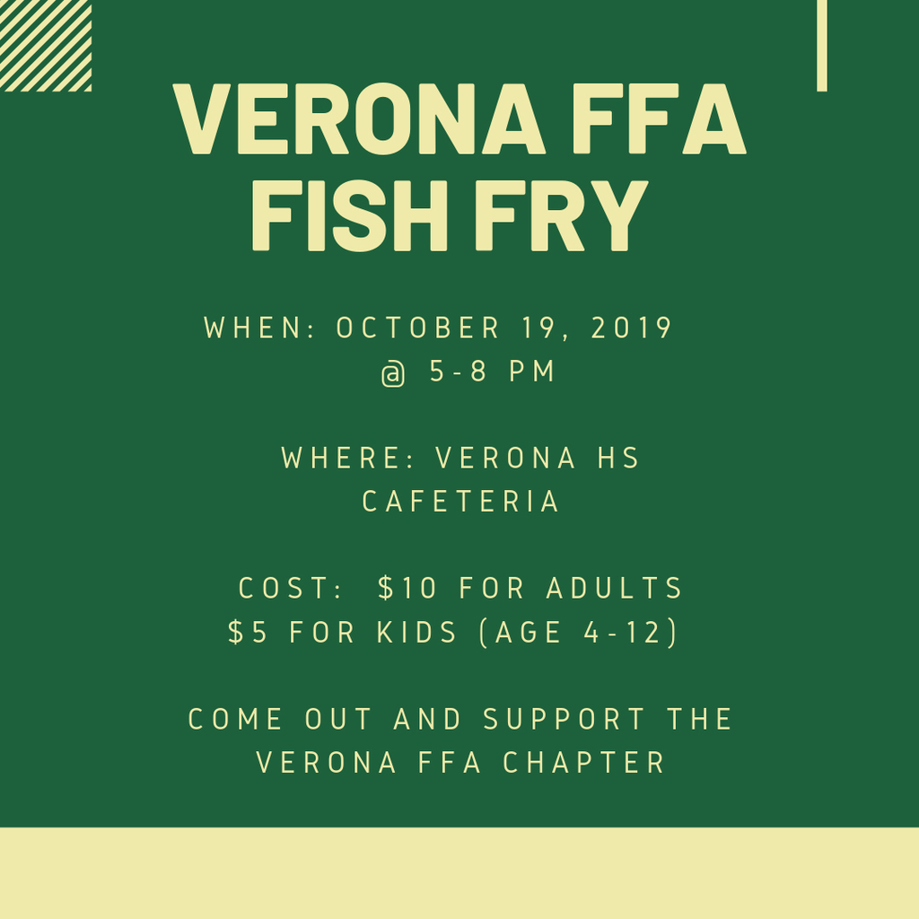 Don't forget! FFA fish fry is this Saturday!