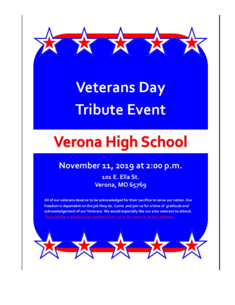 Veterans Day at Verona R-7