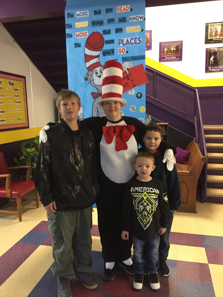 Never too old to get a pic with Cat in the Hat