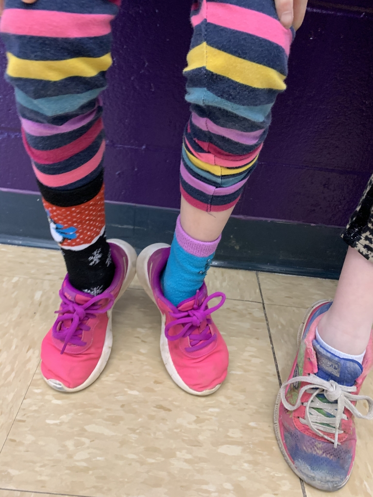Kindergartners have some CRAZY SOCKS!!