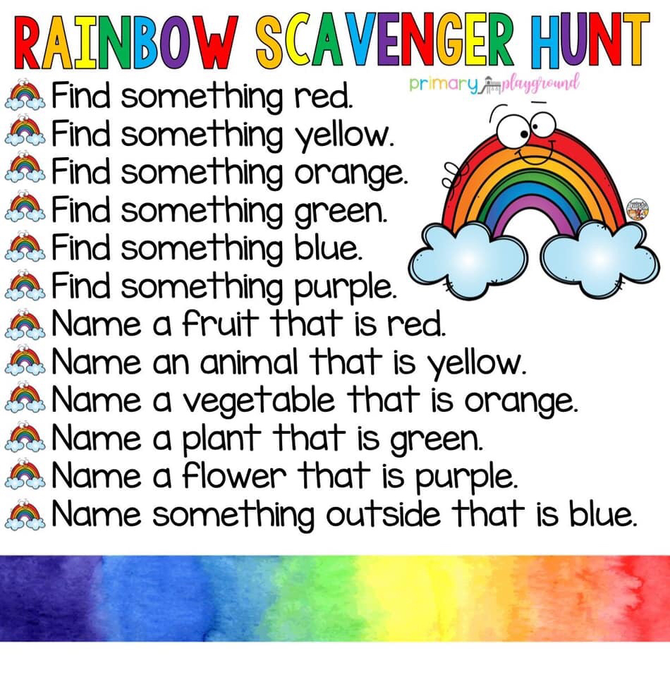 Rainbow Scavenger Hunt