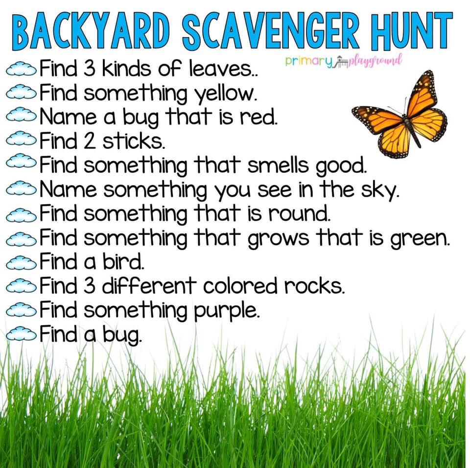 Backyard Scavenger Hunt